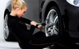 Смена колес на автомобиле