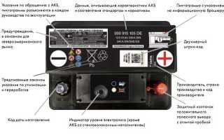 Схема аккумуляторной батареи автомобиля