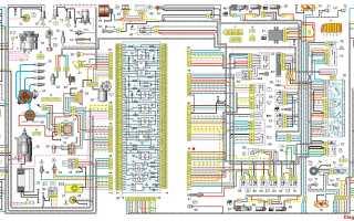 Схема электропроводки ВАЗ 21099 исполнение Стандарт и Люкс