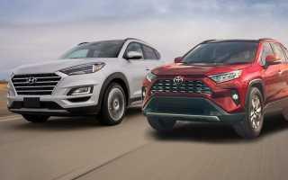 Сравнение автомобилей Toyota Rav4 и Hyundai Tucson