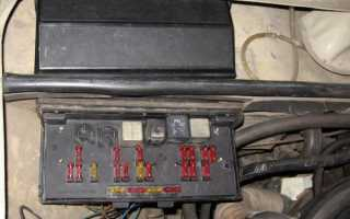 Схема соединений монтажной платы блока предохранителей ВАЗ-2105  ВАЗ-2107