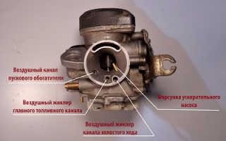 Карбюратор для скутера 4 т 139qmb CVK
