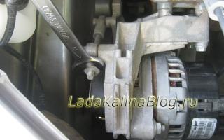 Лада Калина Спорт 16  Подтяжка ремня генератора