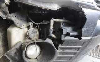Как снять передний бампер Subaru Forester