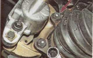 Снятие и замена тормозных дисков Лада Калина