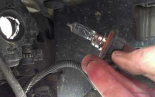 Как заменить лампочку задней противотуманной фары