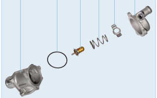 Лада Гранта  Установка термостата Wahler 301792D50 92С